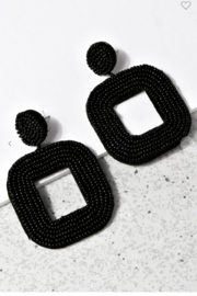 US Jewelry House Beaded Square Drop Earrings - Product Mini Image