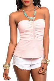 Adore Clothes & More Beaded Strapless Top - Product Mini Image