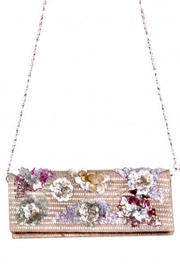 America & Beyond Beaded Straw Clutch - Product Mini Image