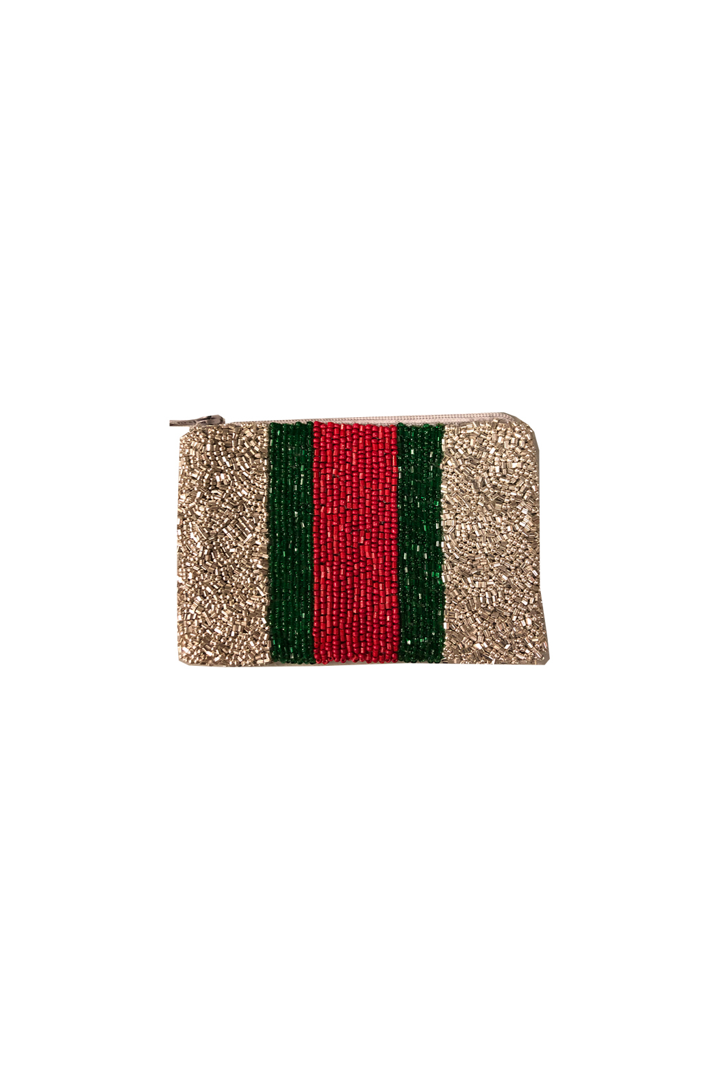 Tiana Beaded Stripe Coin Purse - Front Cropped Image