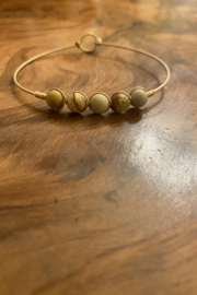 tesoro  Beaded Tan Wire Bracelet - Product Mini Image
