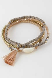 H & D Beaded Tassel Bracelet - Product Mini Image