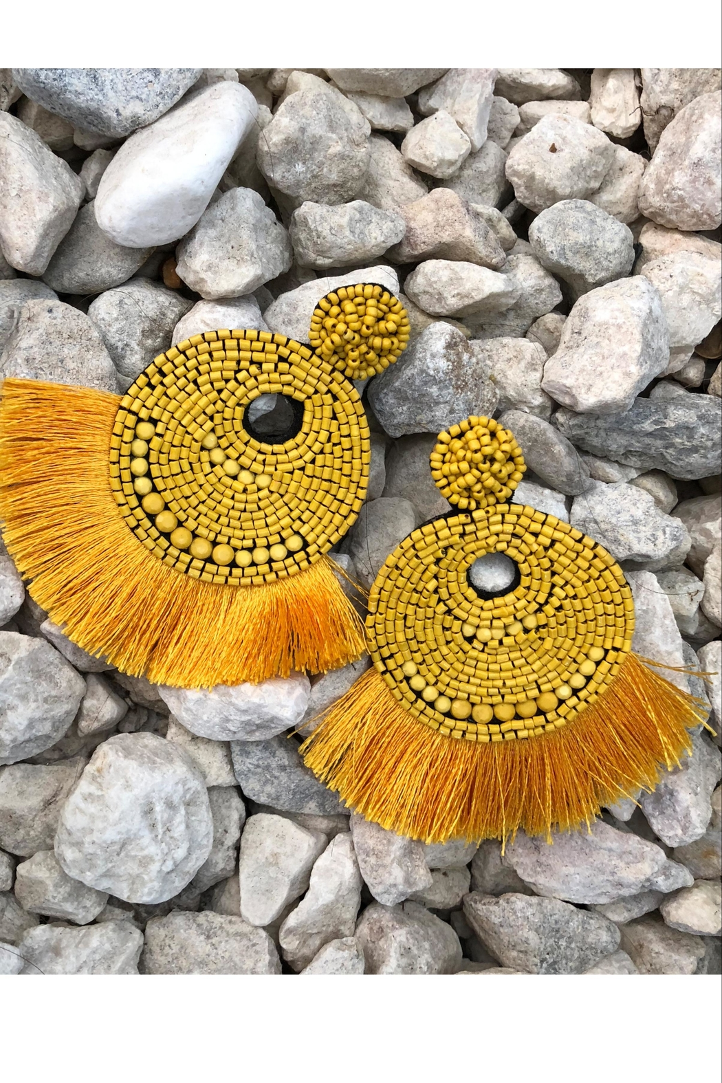 Chynna Dolls Beaded Tassel Earrings - Front Cropped Image