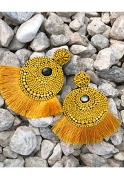 Chynna Dolls Beaded Tassel Earrings - Product Mini Image