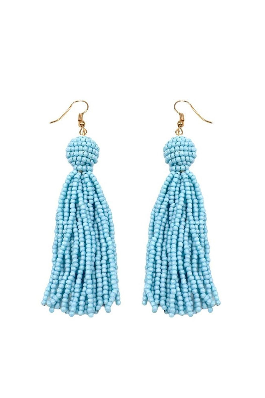 Wild Lilies Jewelry  Beaded Tassel Earrings - Front Cropped Image
