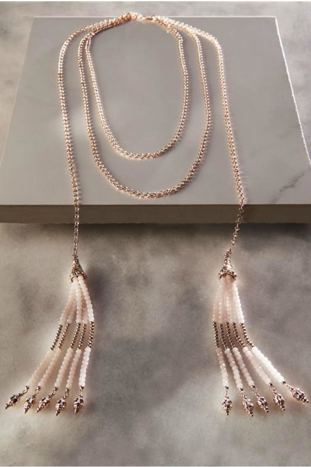 Charlie Paige Beaded Tassel Necklace - Main Image