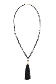 Riah Fashion Beaded-Tassel Pendant-Necklace - Product Mini Image