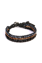 Riah Fashion Beaded Tri-Tone Bracelet - Product Mini Image