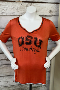 Gameday Couture Beaded Trim Half Sleeve Tee - Product List Image