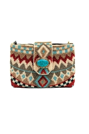 Mary Frances Beaded Turqoise Bag - Product Mini Image
