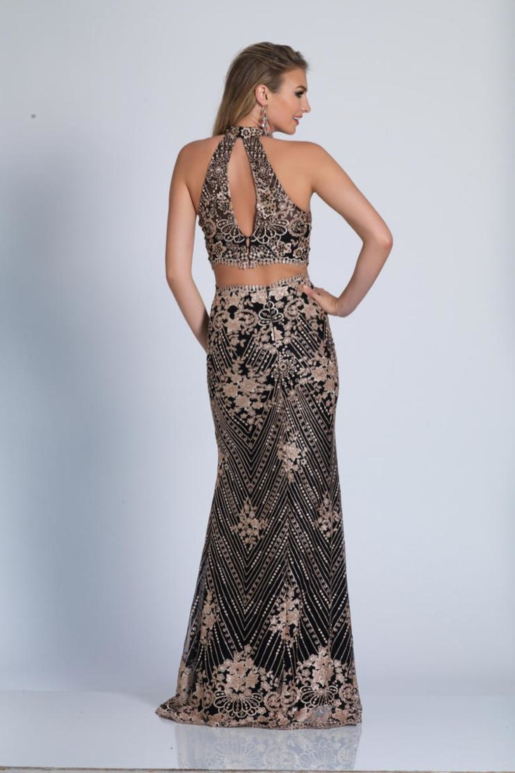 Dave and Johnny Beaded Two Piece - Front Full Image