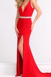 Jovani Beaded Waistline Gown - Product Mini Image