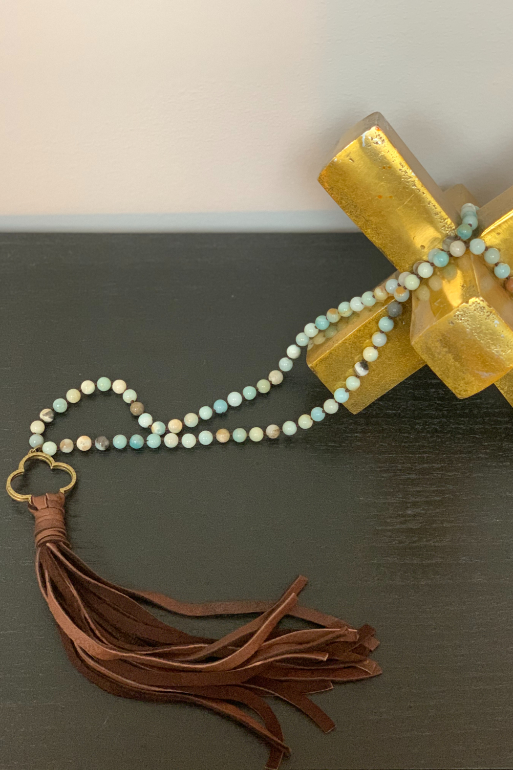 CAROL SU Beads and Long Tassels - Front Cropped Image