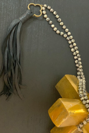CAROL SU Beads and Long Tassels - Front full body