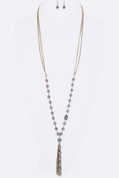 Shoptiques Product: Beads & Tassel Necklace-Set