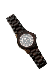 Bean & Vanilla Black Maple Wooden Watch - Front cropped