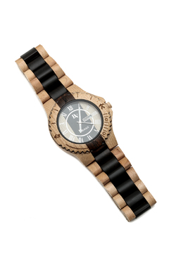 Bean & Vanilla Black Sandal Wooden Watch - Alternate List Image