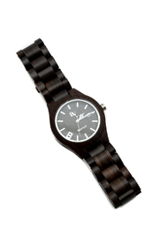 Bean & Vanilla Black Wooden Watch - Front cropped