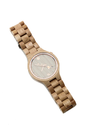 Bean & Vanilla Maple Wooden Watch - Product Mini Image