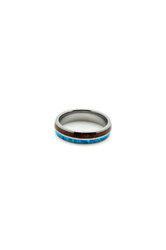 Shoptiques Product: Opal Inlay Tungsten Ring