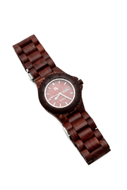 Bean & Vanilla Red Sandal Wooden Watch - Product Mini Image