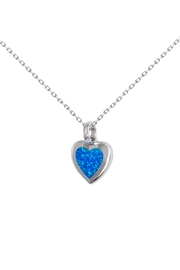 Bean & Vanilla Blue Opal Heart - Product Mini Image