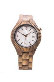 Bean & Vanilla Koa Mother Of Pearl Watch - Front cropped