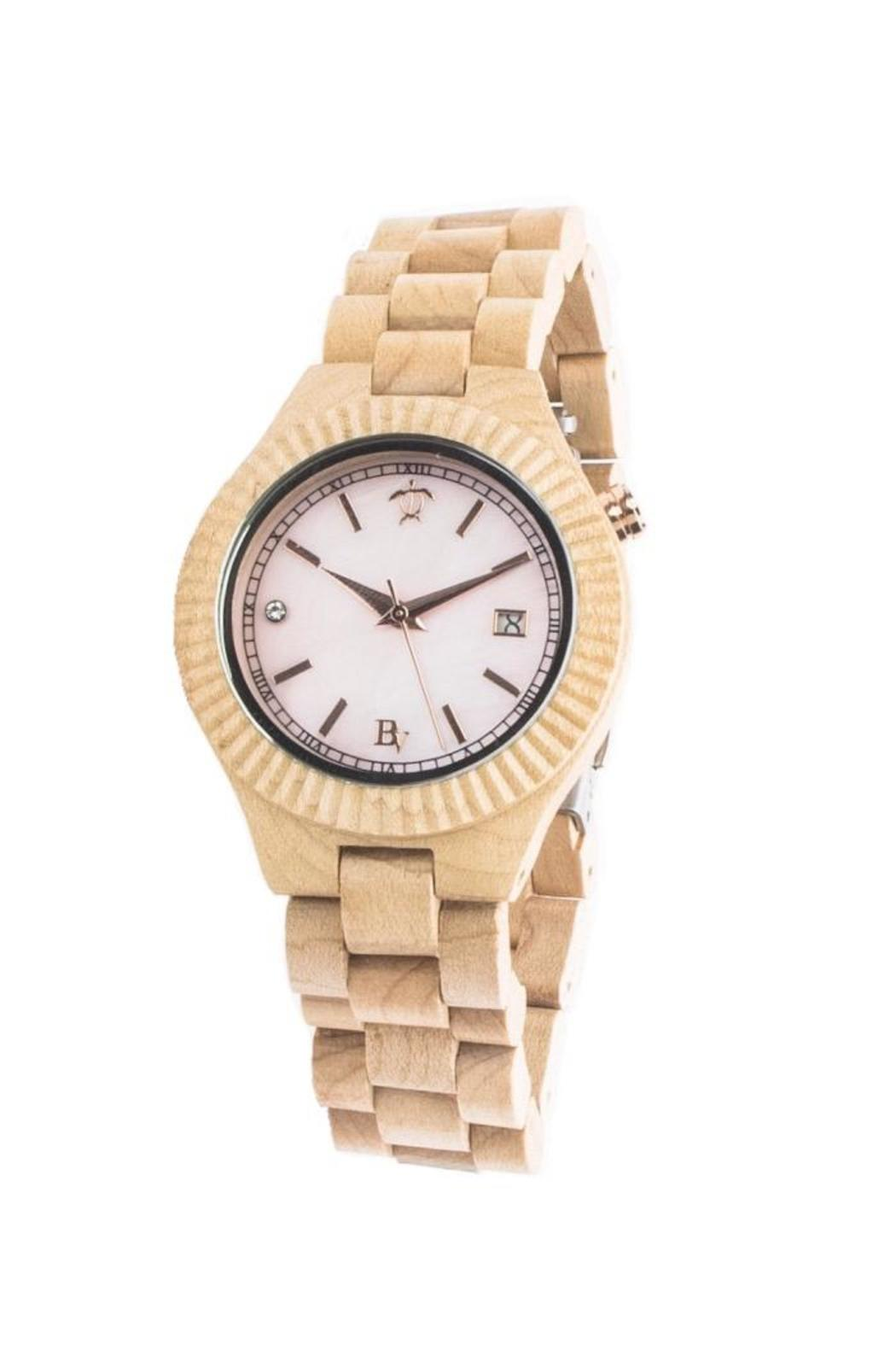 Bean & Vanilla Maple & Mother-Of-Pearl Watch - Front Cropped Image