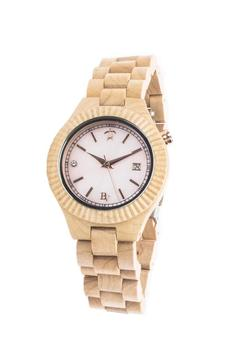 Shoptiques Product: Maple & Mother-Of-Pearl Watch