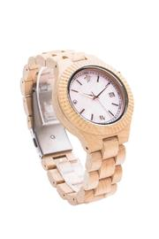 Bean & Vanilla Maple & Mother-Of-Pearl Watch - Front full body