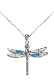 Bean & Vanilla Multicolor-Opal Dragonfly Pendant - Product Mini Image