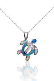 Bean & Vanilla Multicolor-Opal Turtle Pendant - Product Mini Image