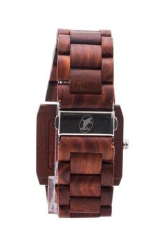 Bean & Vanilla Rectangular Sandalwood Watch - Alternate List Image