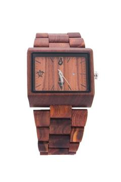 Bean & Vanilla Rectangular Sandalwood Watch - Product List Image