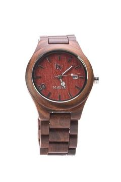 Bean & Vanilla Round Sandalwood Watch - Product List Image