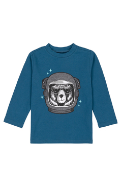 Deux Par Deux Bear Astronaut Long Sleeve Shirt - Product List Image