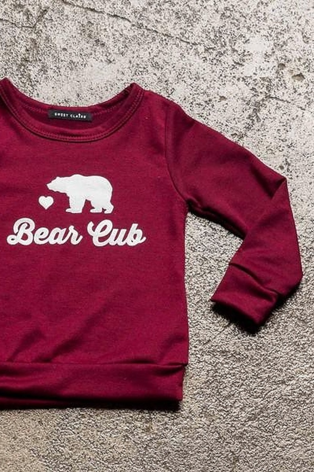 Sweet Claire Bear Cub French Terry Crew Neck - Front Full Image