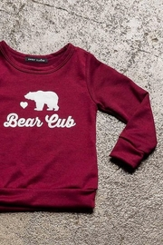 Sweet Claire Bear Cub French Terry Crew Neck - Front full body