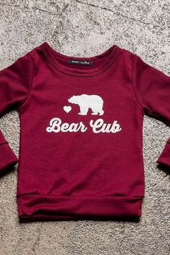 Sweet Claire Bear Cub French Terry Crew Neck - Product List Image