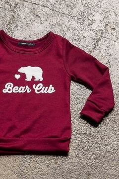 Sweet Claire Bear Cub French Terry Crew Neck - Alternate List Image