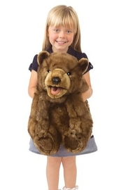 Folkmanis Bear Cub Hand Puppet - Back cropped