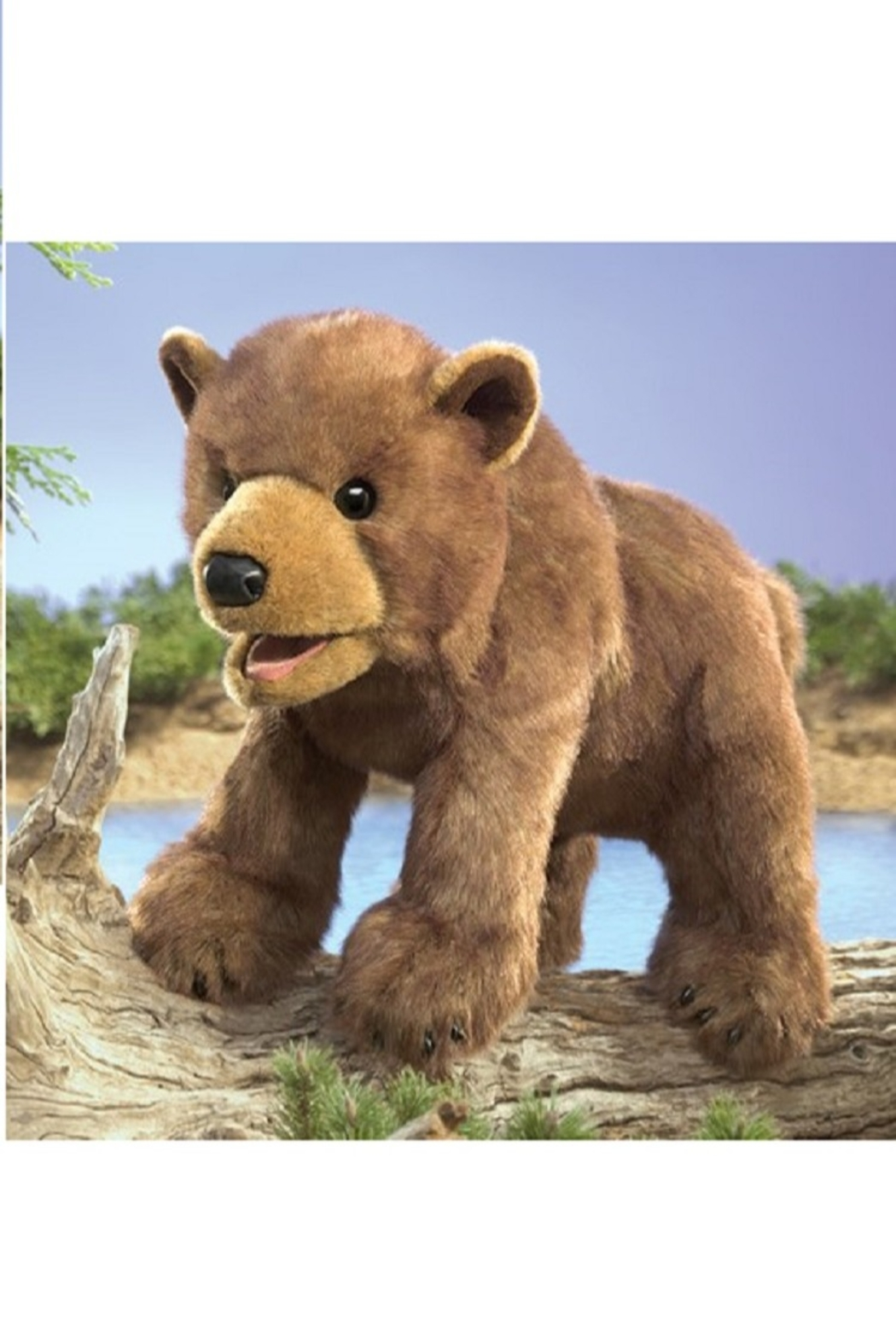 Folkmanis Bear Cub Hand Puppet - Side Cropped Image
