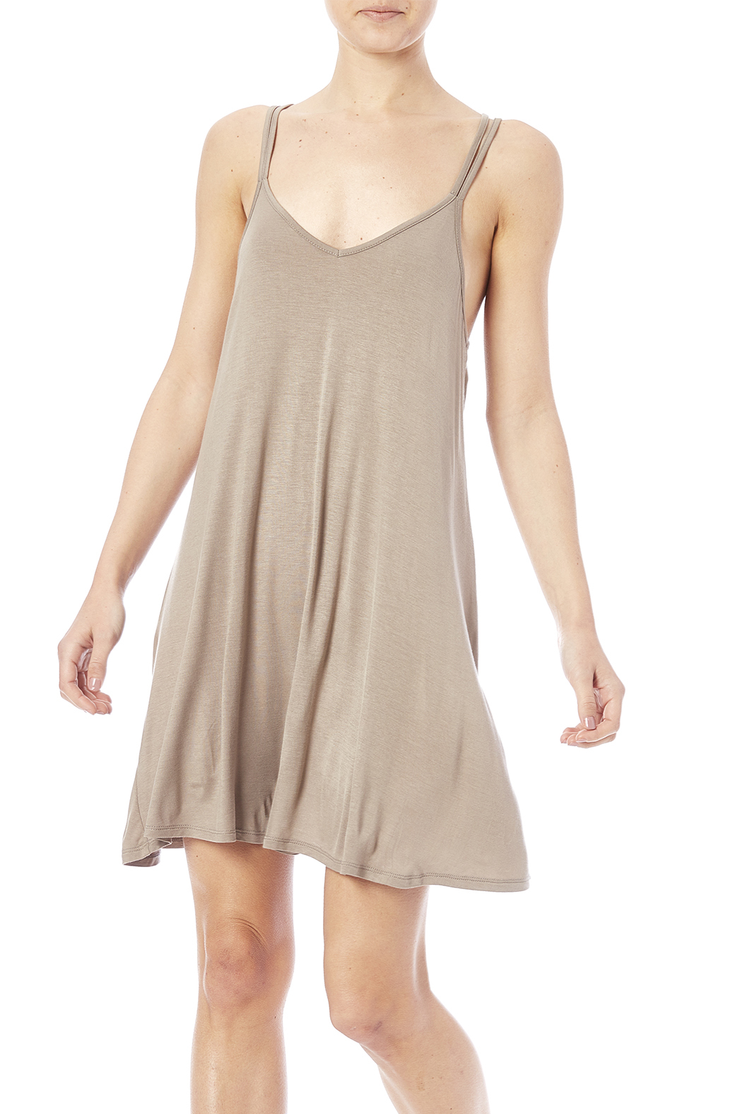 41229f6dc3848 Bear Dance Flowy Taupe Dress from Oregon by My Campus Closet ...