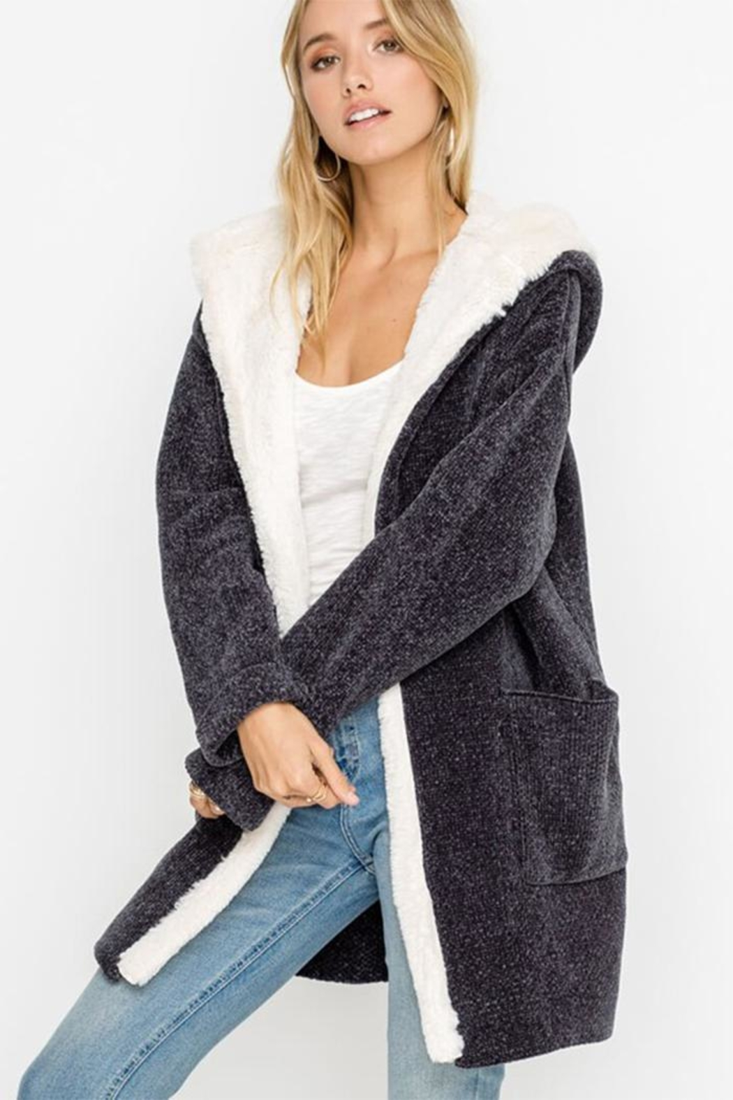 Lush Bear Fur Jacket - Front Full Image