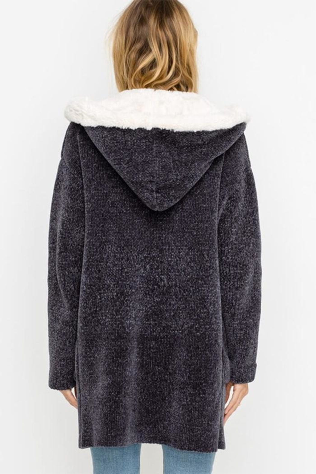 Lush Bear Fur Jacket - Back Cropped Image