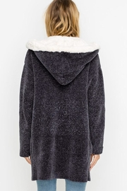 Lush Bear Fur Jacket - Back cropped