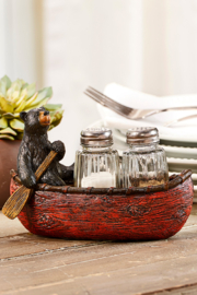 Giftcraft Inc.  Bear on a Boat S&P Tray - Product Mini Image