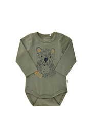Minymo Bear Onesie - Lichen Green - Product Mini Image