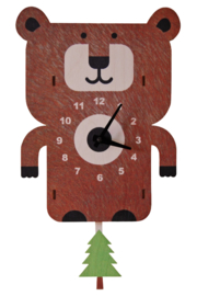 Modern Moose Bear Pendulum Clock - Product Mini Image