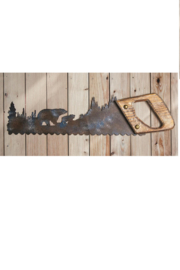 Manuel woodworkers and weavers Bear Saw Wall Hanging - Product Mini Image